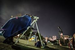 Image of astronomical observations. Shooting location :  Yokohama-city kanagawa prefecture royalty free stock photography