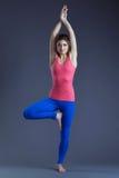Image of attractive yogi posing in studio Stock Photo
