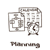 Image with the attributes of planing as a marketing stage Stock Images