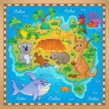 Image australienne 2 de thème de carte Images libres de droits