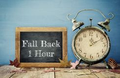 Image of autumn Time Change. Fall back concept Royalty Free Stock Photo