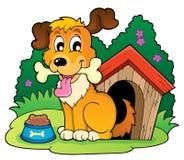 Image avec le thème 4 de chien Photo libre de droits