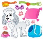 Image avec le thème 9 de chien Photographie stock