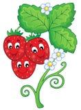 Image avec le thème 1 de fraise illustration libre de droits