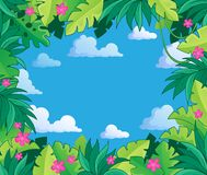 Image avec le thème 2 de jungle Image stock