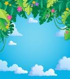 Image avec le thème 4 de jungle Image libre de droits