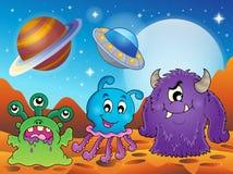 Image avec le thème 2 de monstre illustration de vecteur