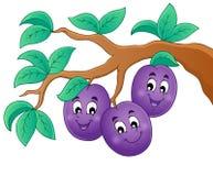 Image avec le thème 1 de prune illustration stock