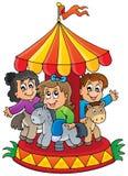Image avec le thème 1 de carrousel Photo stock