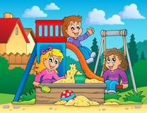 Image avec le thème 2 de terrain de jeu Photo stock
