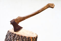 Image of the axe in a log Royalty Free Stock Images