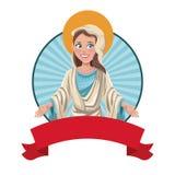 Image bénie de sac de Vierge Marie illustration libre de droits