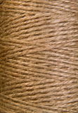 Image background coil of hemp thread Stock Images