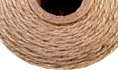 Image background coil of hemp thread Royalty Free Stock Photography