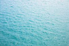 Image background of surface of blue sea or ocean water with glitter light from sunlight at day time. Stock Photos