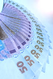 Ukrainian money value of 50 grivnas Royalty Free Stock Image