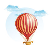 Image of the balloon in a strip in the clouds Royalty Free Stock Photo