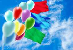 Image of of balloons in the sky close-up Royalty Free Stock Image