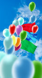 Image of of balloons in the sky closeup Royalty Free Stock Images