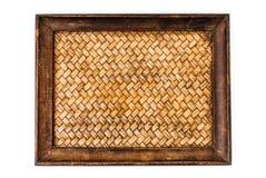 Image of bamboo woven tray Stock Photos