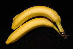 Image of banana. Closeup image of banana bunch isolated on black Royalty Free Stock Photos