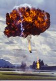 Image of a barrel bomb explosion. An image of a powerful, destructive pyrotechnic barrel bomb explosion Royalty Free Stock Photos