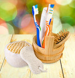 Image of bath accessories Stock Images