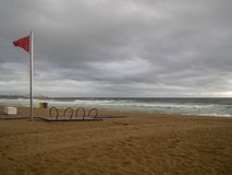 image of the beach of Barcelona royalty free stock images