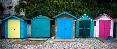 Beach Huts at Beer, Devon royalty free stock photos