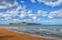 Beach landscape on Crete Greece Stock Photography