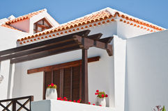 The image of the Beach resort side. Tenerife.Canary islands.Playa de las Americas.Spain Royalty Free Stock Images