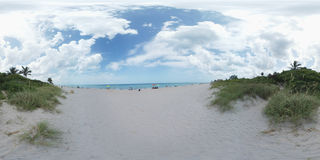 360 image beach scene Royalty Free Stock Image