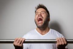 bearded bodybuilding man royalty free stock image