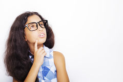Image of a beautiful African young girl wearing glasses. Stock Images