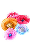 Image of beautiful artificial flower made of fabric Stock Images