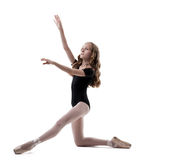 Image of beautiful ballet dancer posing in studio Royalty Free Stock Photos