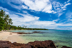 Image of beautiful blue sky with the beauty beach from Koh Mak Stock Photo