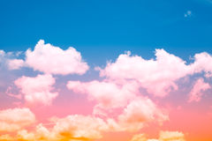 The image of Beautiful colorful soft focus of cloud and sky for background use. Royalty Free Stock Photography