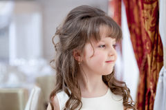Image of beautiful dark-haired little fashionista Royalty Free Stock Images