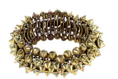 Image of beautiful female copper bracelet with studs Royalty Free Stock Image
