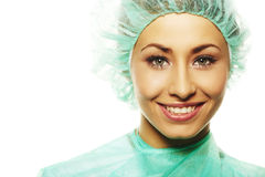 Image of beautiful female surgeon Royalty Free Stock Photography