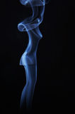 Image of beautiful madam made of smoke Stock Images