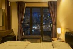 Beautiful modern bedroom in hotel Stock Image