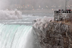 Image with the beautiful Niagara falls in the winter time Stock Images