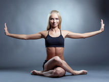 Image of beautiful smiling yoga instructor Stock Photography