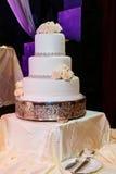 Image of a beautiful wedding cake at  reception Stock Image