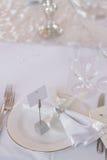 Image of of beautiful wedding table set Stock Photo