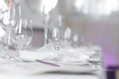 Image of beautiful wedding table set Royalty Free Stock Images