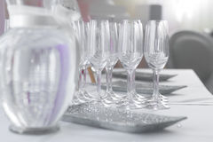 Image of beautiful wedding table set Royalty Free Stock Photos