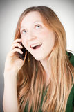 Image of Beautiful Woman Using her Mobile Stock Photography